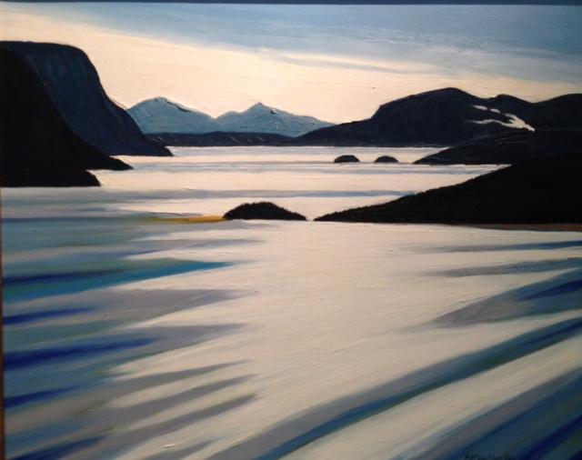 McLauchlan Nipigon Bay. 2001 30 X24 Oil on canvas $7500